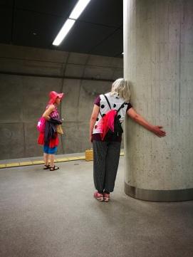 Marie in der U-Bahn Station, Köln